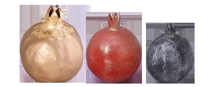 Three Coloured Pomegranate