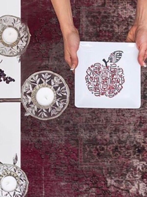 Ceramic Plate Apple Designed